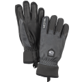 Army Leather Wool Terry 5 finger Grey / Black
