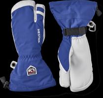 Hestra Army Leather Heli Ski 3 Finger Royal